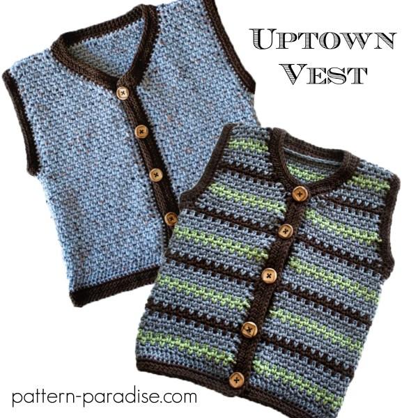 Crochet Pattern: Uptown Sweater Vest