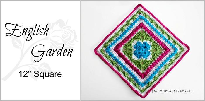 Free Crochet Pattern: English Garden Afghan Square | Pattern Paradise