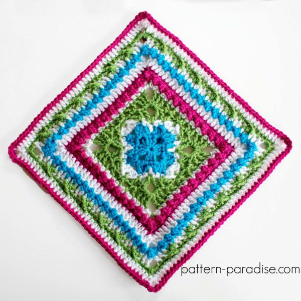Free Crochet Pattern: English Garden Afghan Square