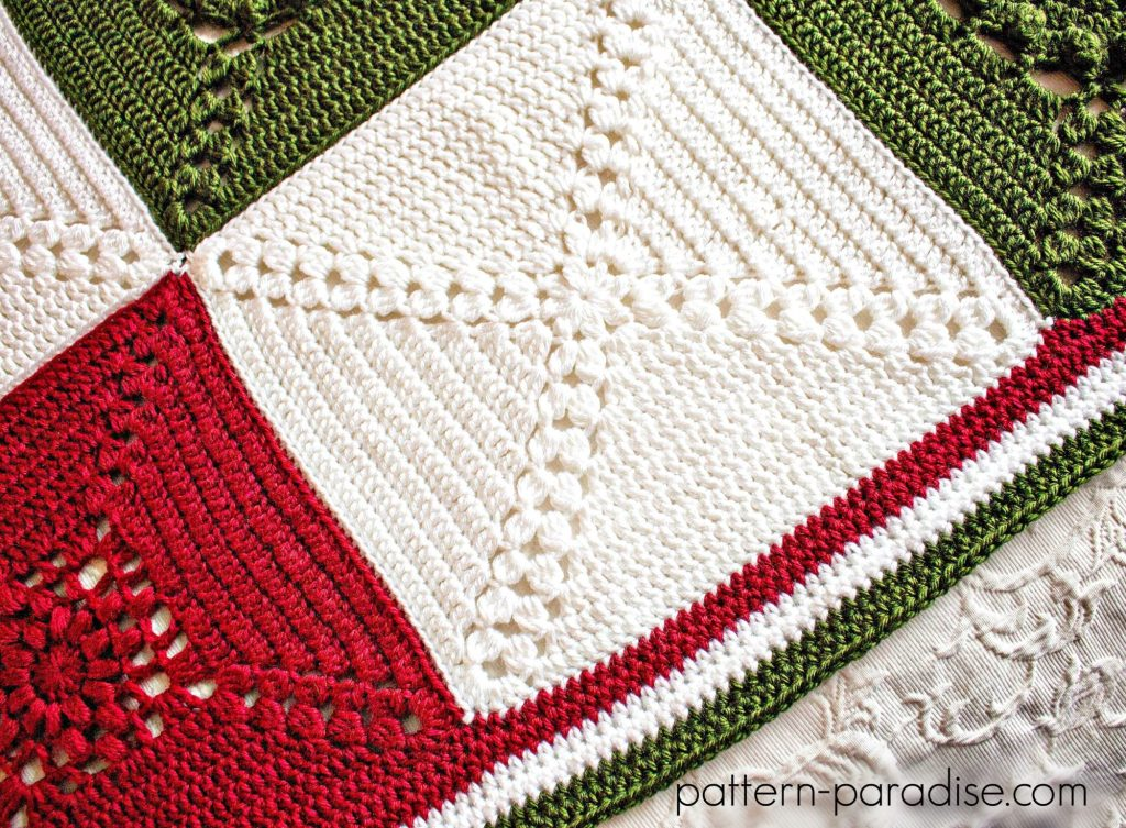 Crochet Pattern Rosary Hill Blanket 6337 by Patter-Paradise.com