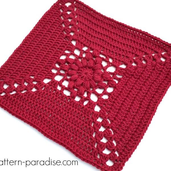 Rosary Hill Blanket CAL – Week 2 Afghan Square