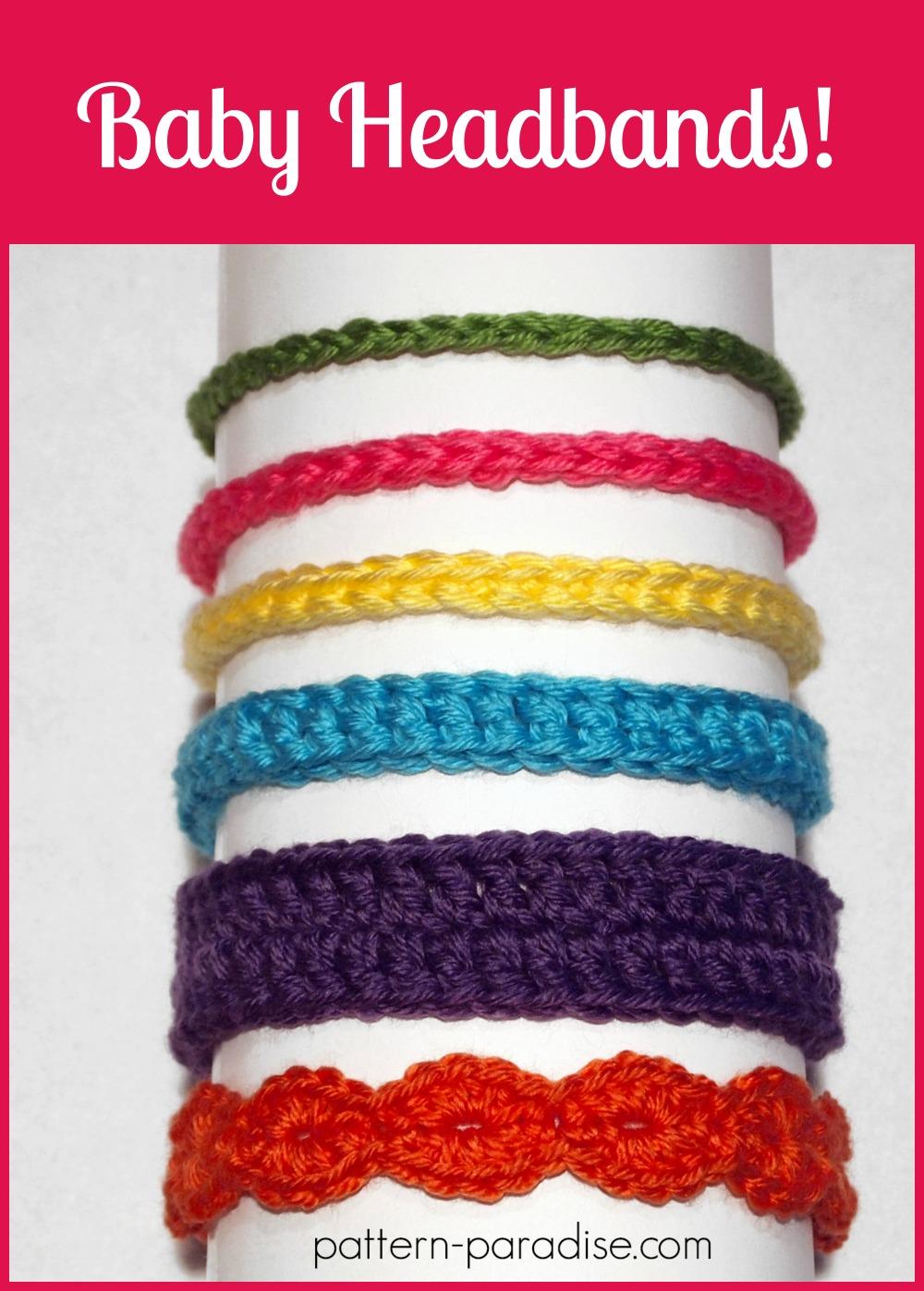 Free Crochet Pattern Six Styles of Baby Headbands