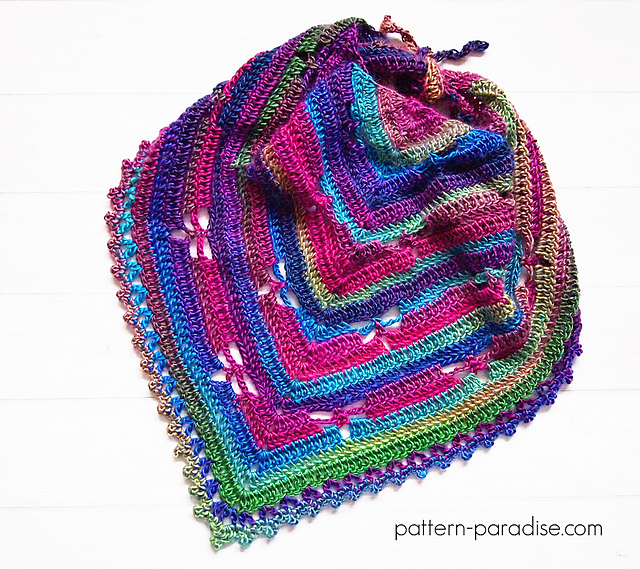 Free Crochet Pattern Dragonfly Bandana Cowl Pattern Paradise