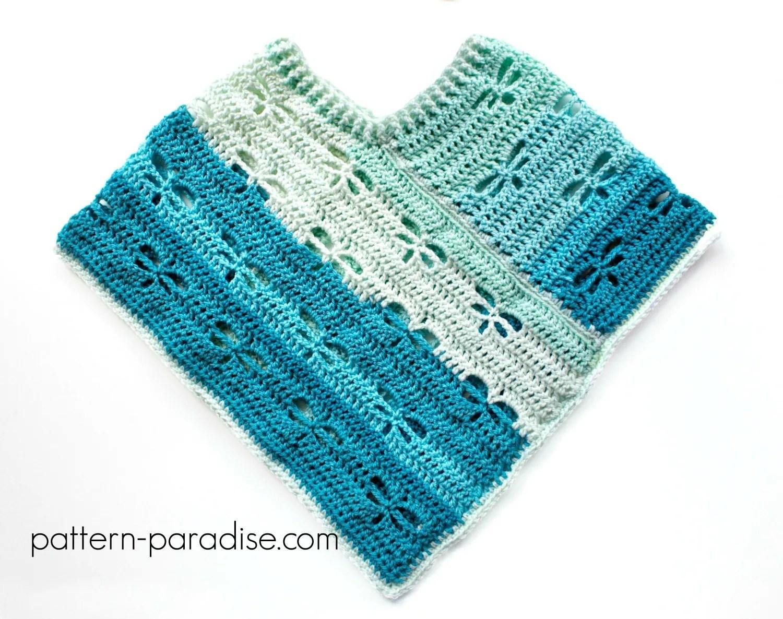 Free Crochet Pattern Dragonfly Poncho For 18 Dolls Pattern Paradise