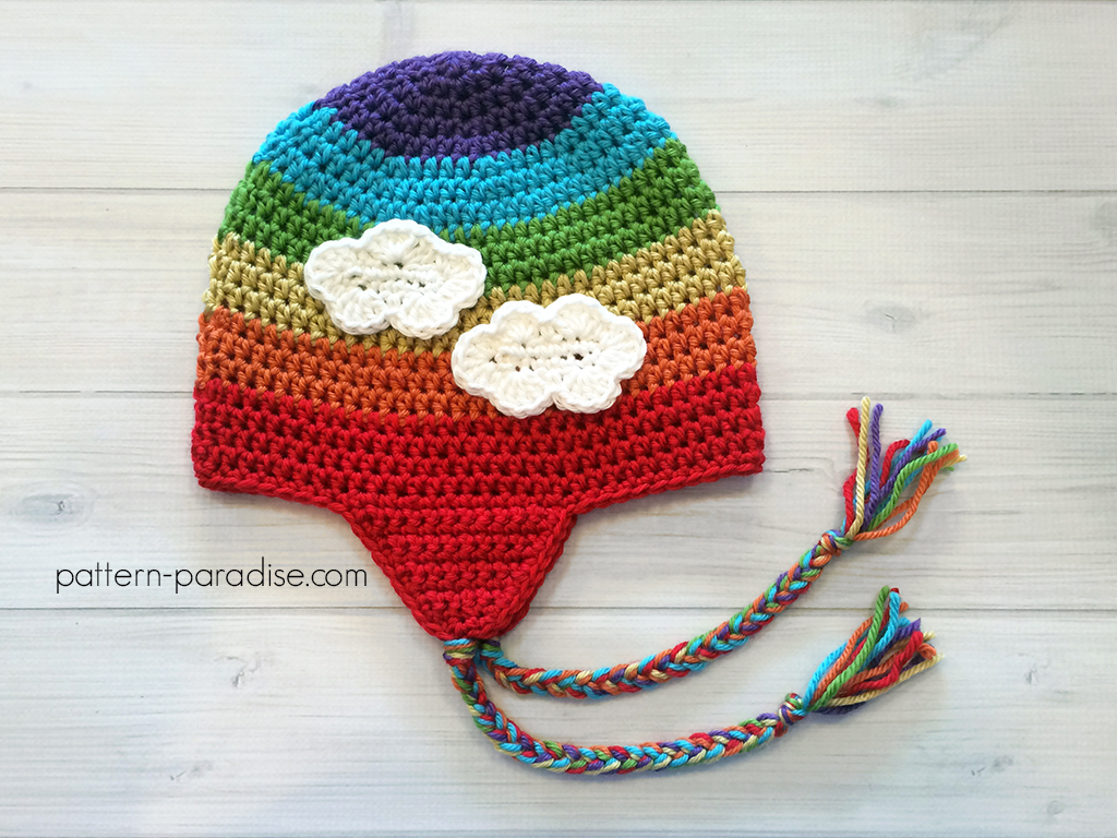 Free Pattern Easy Earflap Hat by Pattern-Paradise.com