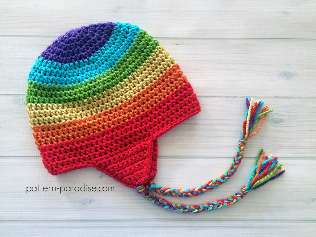 crochet earflap hat pattern for adults