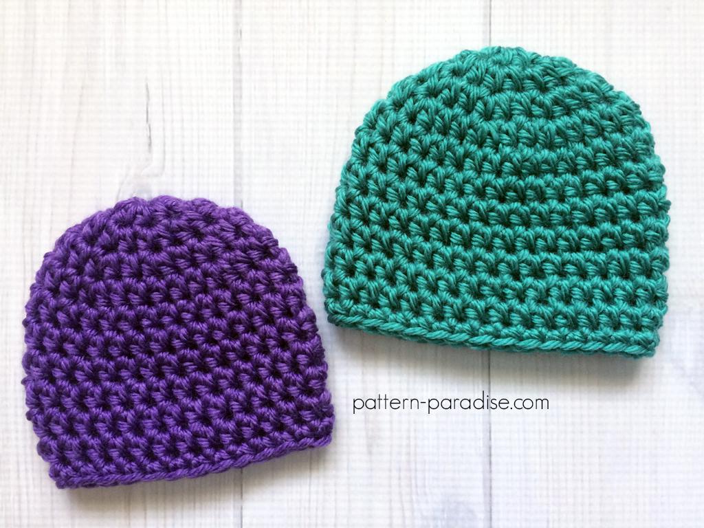 Free Crochet Pattern: Easy Preemie Hat | Pattern Paradise