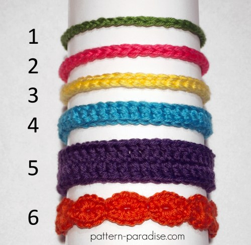Free Crochet Pattern Six Styles Of Baby Headbands Pattern Paradise