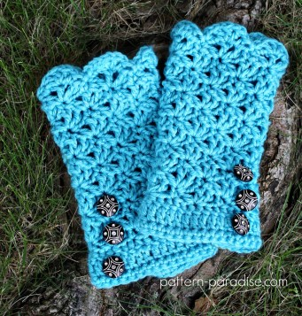 #12WeeksChristmasCAL Glamour Gloves by Pattern-Paradise.com