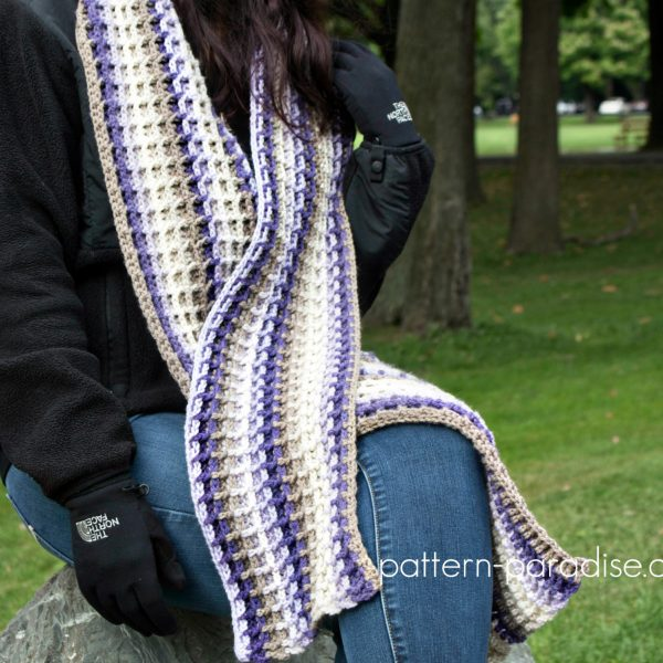 Free Crochet Pattern: Alpine Nights Scarf
