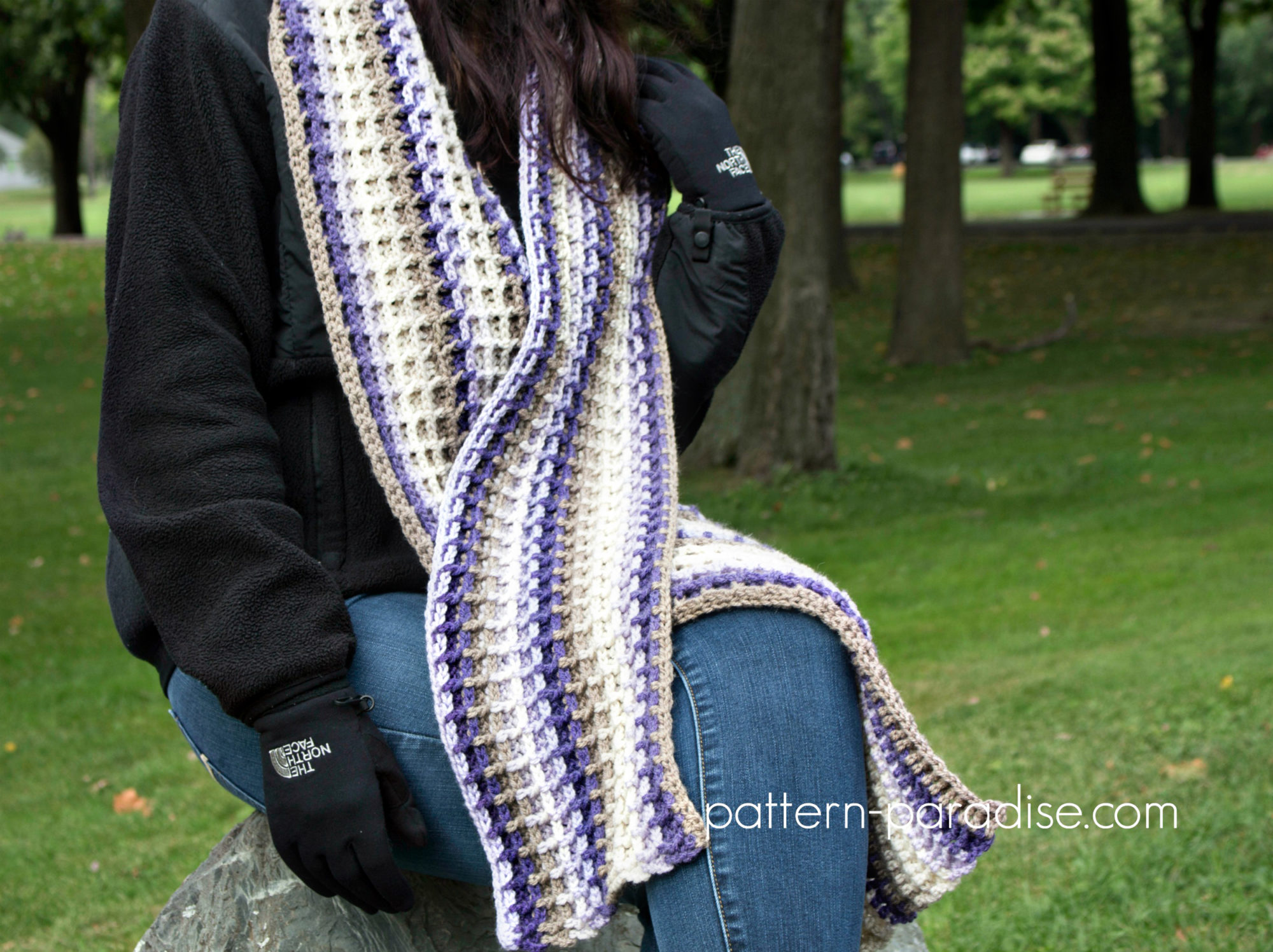 Free Crochet Pattern: Alpine Nights Scarf | Pattern Paradise