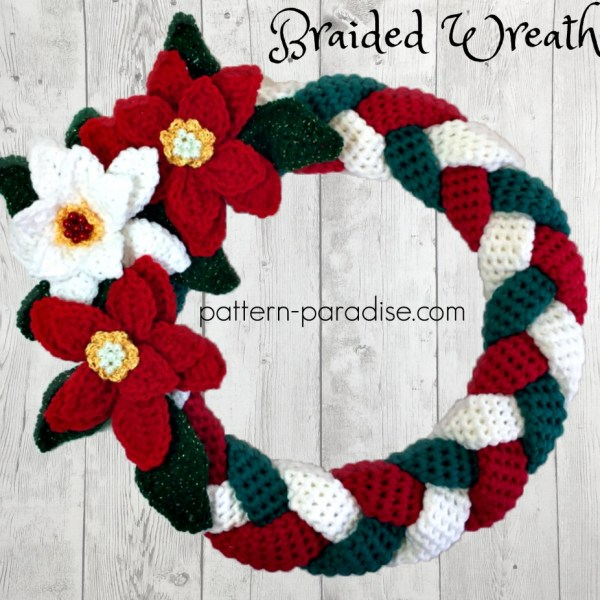 Braided Christmas Wreath: #12WeeksChristmasCAL Week 4
