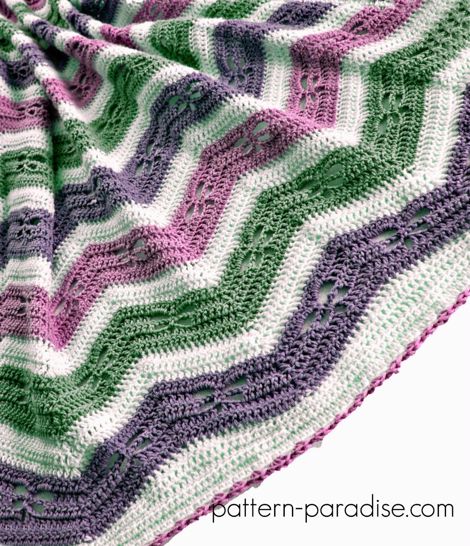 Dragonfly Crochet Afghan Pattern : Free Crochet Pattern: Dragonfly Chevron Baby Blanket ...