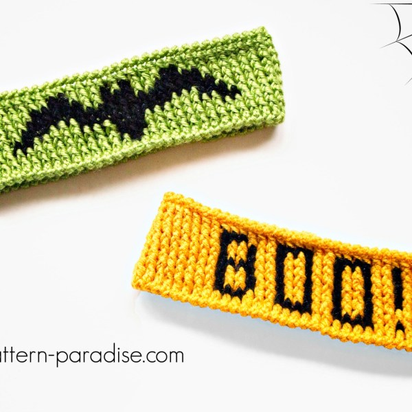 Free Crochet Pattern: Halloween Graph Headband