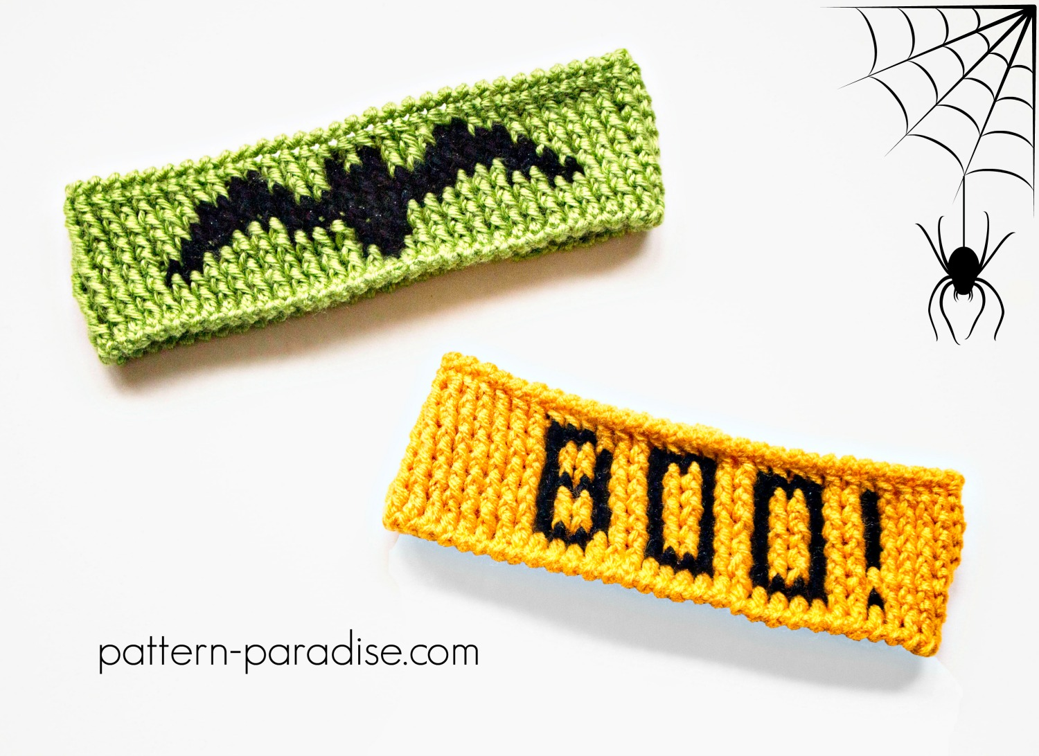 Free Crochet Pattern: Halloween Graph Headband | Pattern Paradise