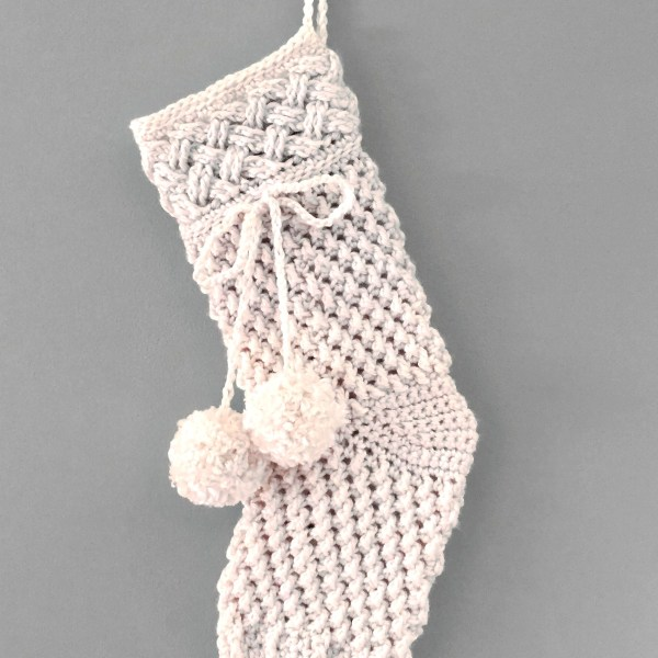 Crochet Pattern: Ivory Snow Stocking