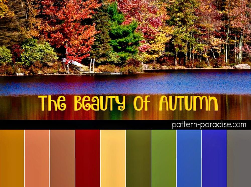 Color Inspiration Autumn on Pattern-Paradise.com