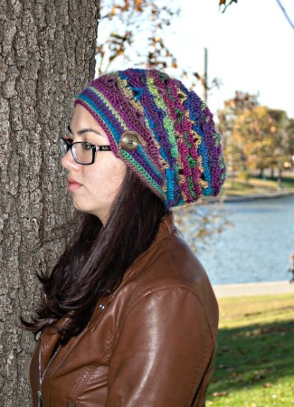 Free crochet pattern: Autumn Sunset Hat by Pattern-Paradise.com