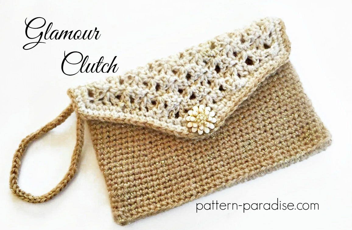 Free Crochet Clutch Pattern : Crochet Pattern Glamour Clutch #12WeeksChristmasCAL on Pattern ...