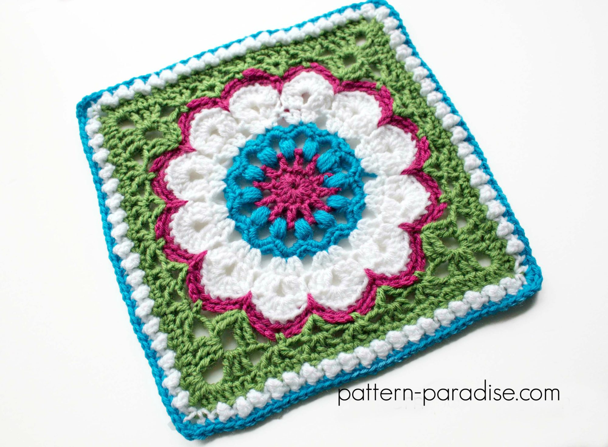 Free Crochet Pattern: Dahlia Afghan Square | Pattern Paradise