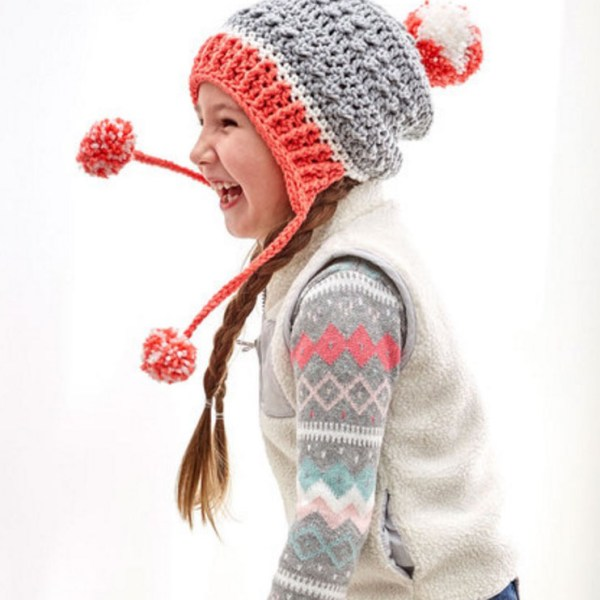 Free Crochet Pattern: Little Miss Pompom Hat