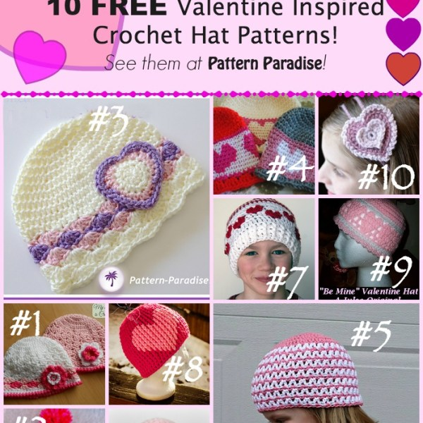 Crochet Finds: Sweet Hats for Valentine's Day