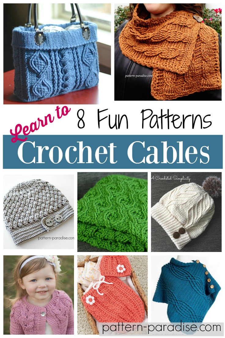 Crochet Cables patterns on Pattern-Paradise.com