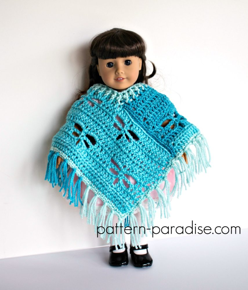 Free Crochet Pattern Dragonfly Poncho For 18 Quot Dolls