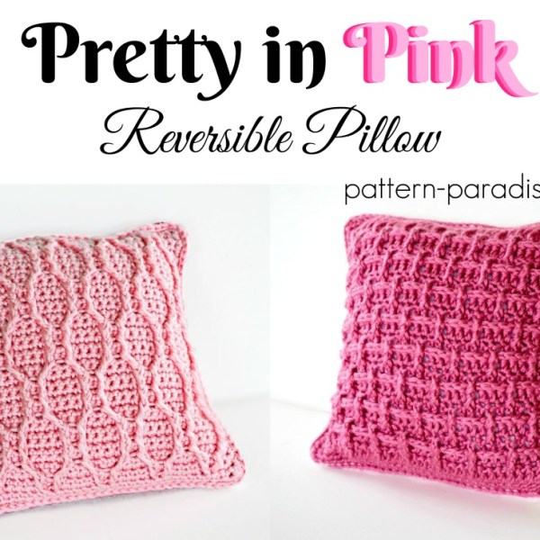 Free Crochet Pattern: Pretty In Pink Pillow