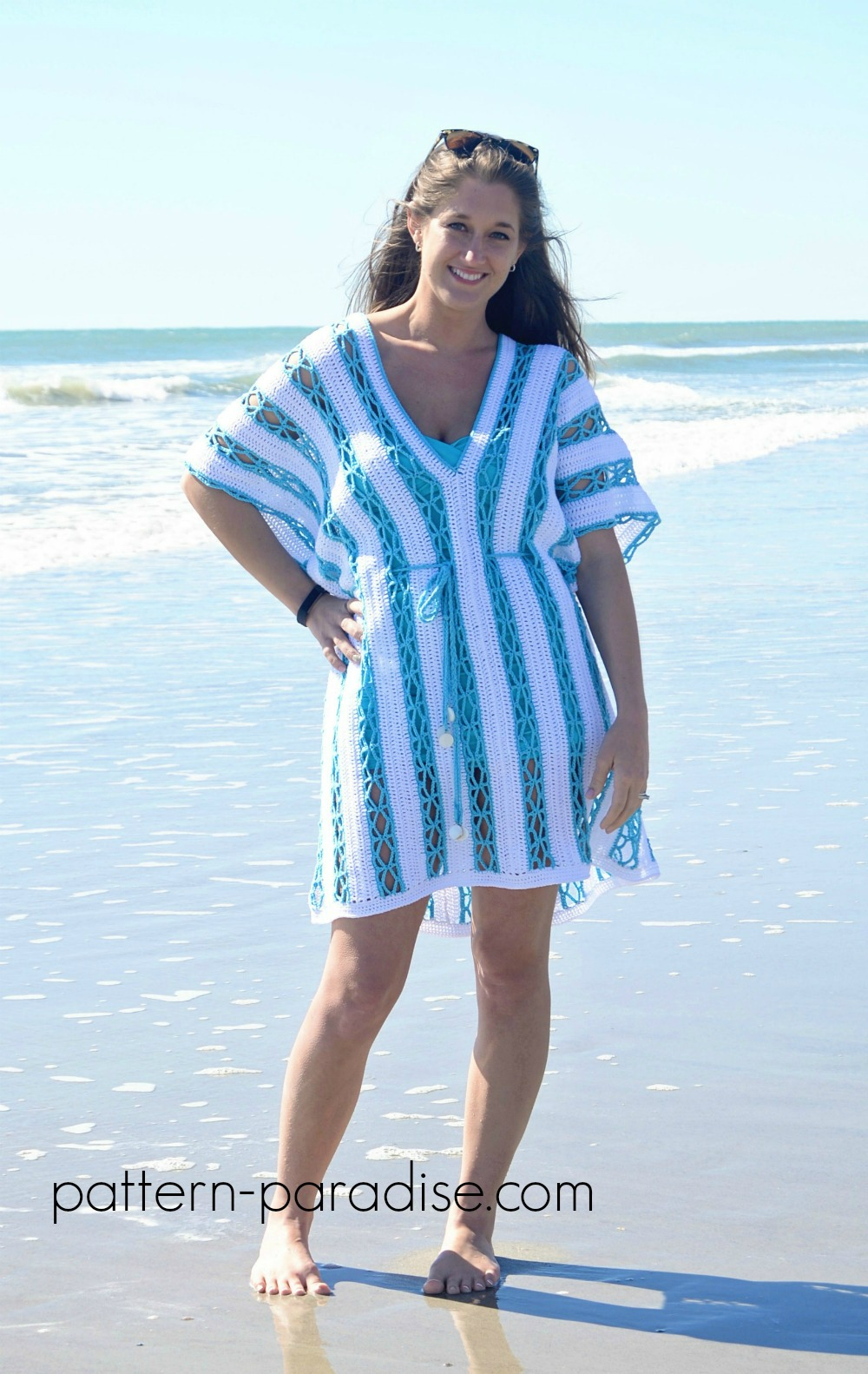 Celebratemomcal Beach Day Cover Up Tunic Pattern Paradise