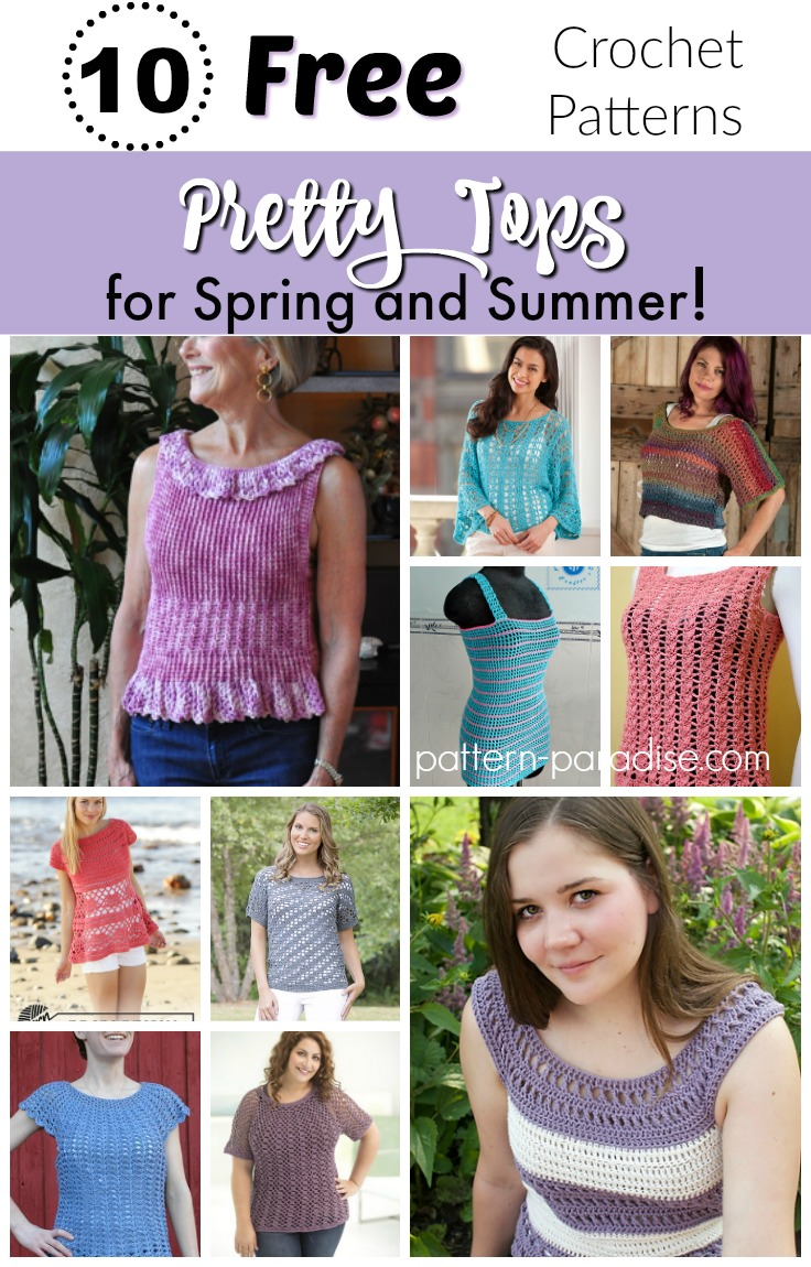 Crochet Finds - Pretty Tops for Spring and Summer | Pattern Paradise