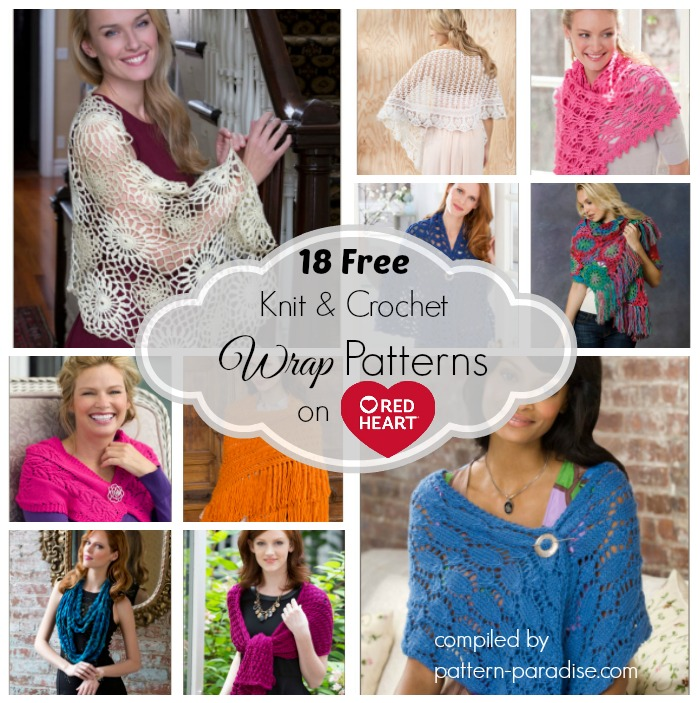Crochet Finds Red Heart Yarns Free Wrap Patterns Pattern Paradise