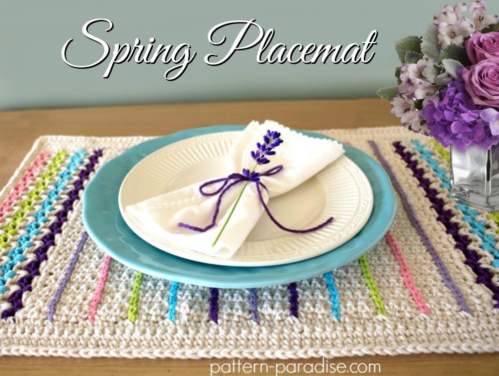 Free Crochet Pattern Spring Placemat Pattern Paradise
