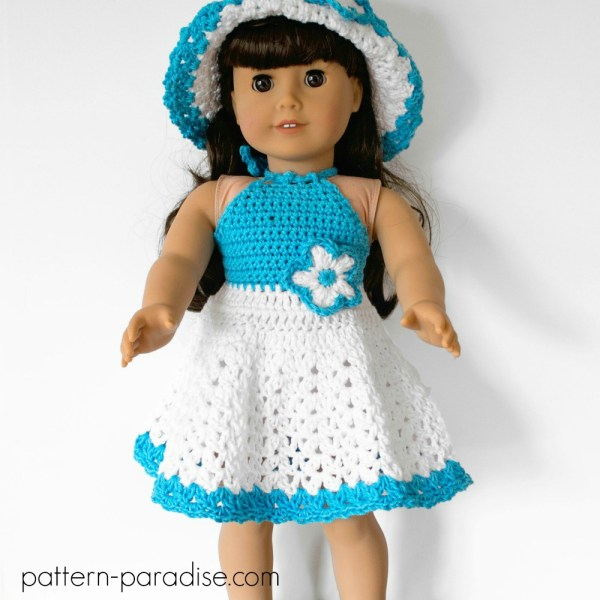 Crochet Pattern: Dolly Halter Dress Set