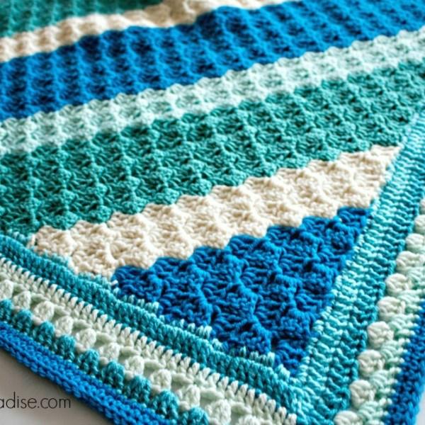Free Crochet Pattern: Crochet Casserole C2C Blanket