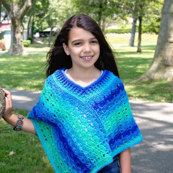 Free Crochet Pattern: Sea Glaze Poncho