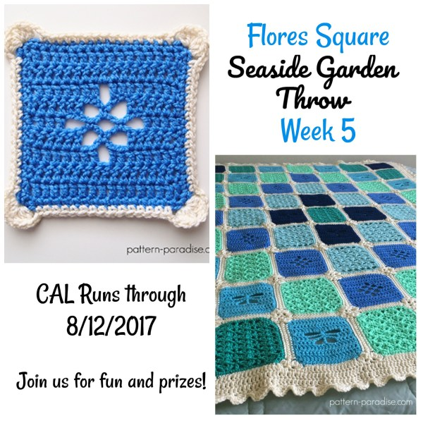 Seaside Garden Throw CAL – Flores Square