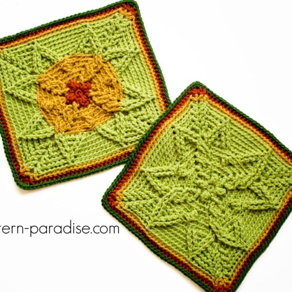 Free Crochet Pattern: Autumn Sun Crochet Square