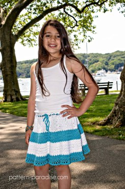 Free Crochet Pattern Boho Skirt on Pattern Paradise.com 7674