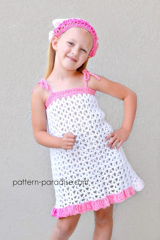 Free Crochet Pattern: Summer Cheer Dress and Kerchief Set | Pattern ...