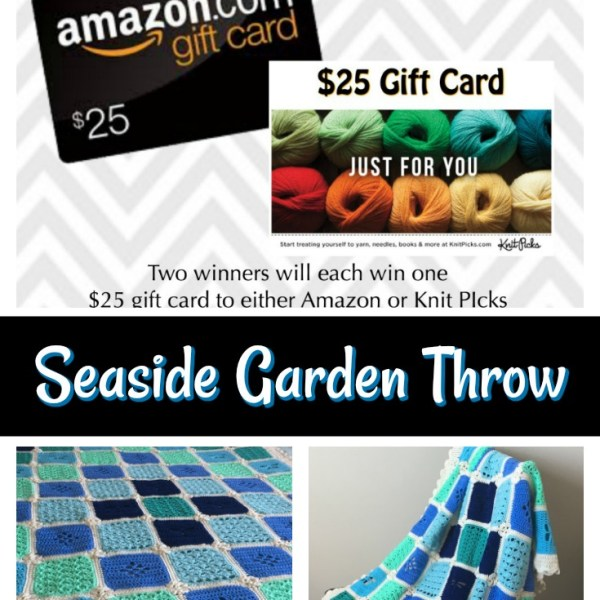 Seaside Garden Throw CAL – The Border and Giveaway!