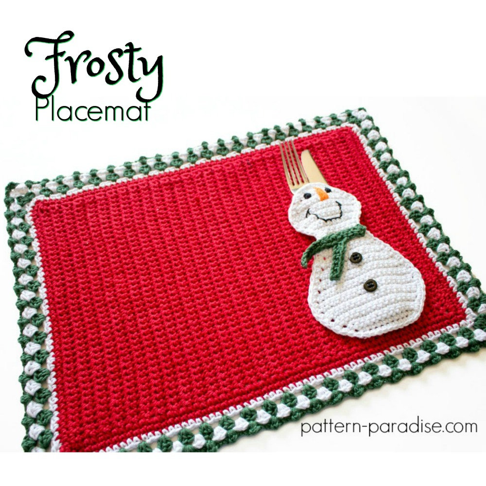 12weekschristmascal Frosty Placemat Pattern Paradise