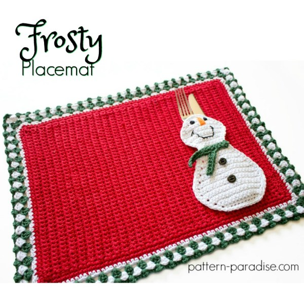 #12WeeksChristmasCAL – Frosty Placemat