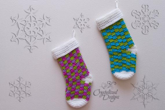 Blitzen Crochet Stocking