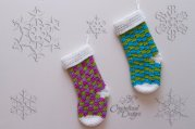 Blitzen Crochet Stocking