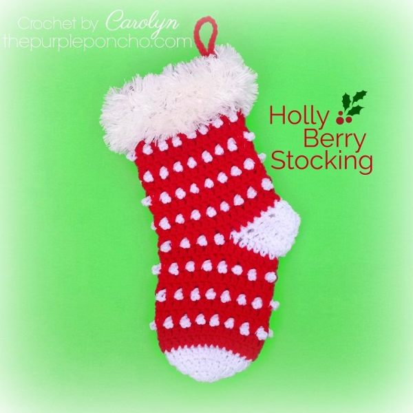 #12WeeksChristmasCAL – Holly Berry Stocking