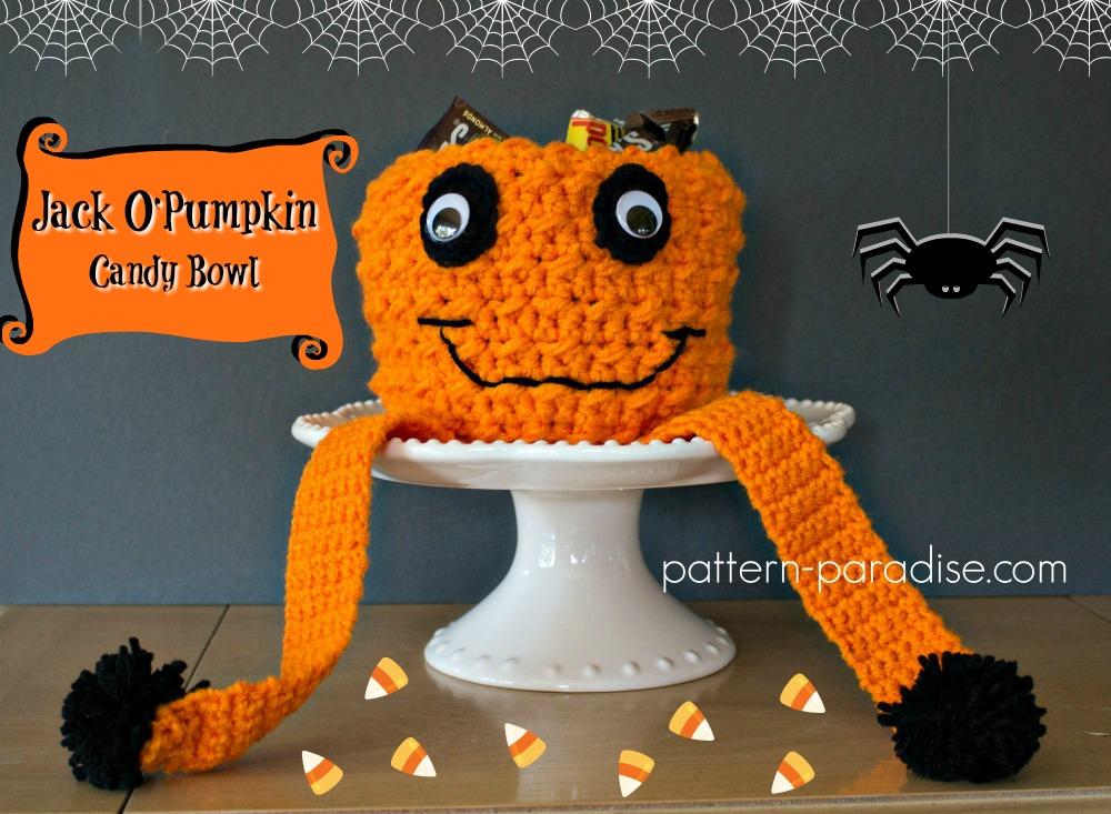 Free Crochet Pattern: Jack O' Pumpkin Candy Bowl & Giveaway