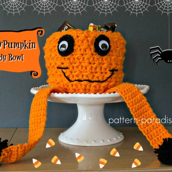 Free Crochet Pattern: Jack O' Pumpkin Candy Bowl & Giveaway