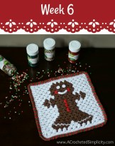 Gingerbread Man Hot Pad #12WeeksChristmasCAL on pattern-paradise.com
