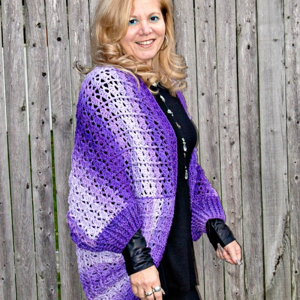 Free Crochet Pattern: Snuggler Cardigan Sweater